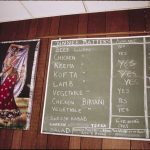 Indian Menu Board