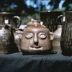 Many cultures produce face jugs. The Meaders family helped popularize them in Georgia. Courtesy of Georgia Council for the Arts