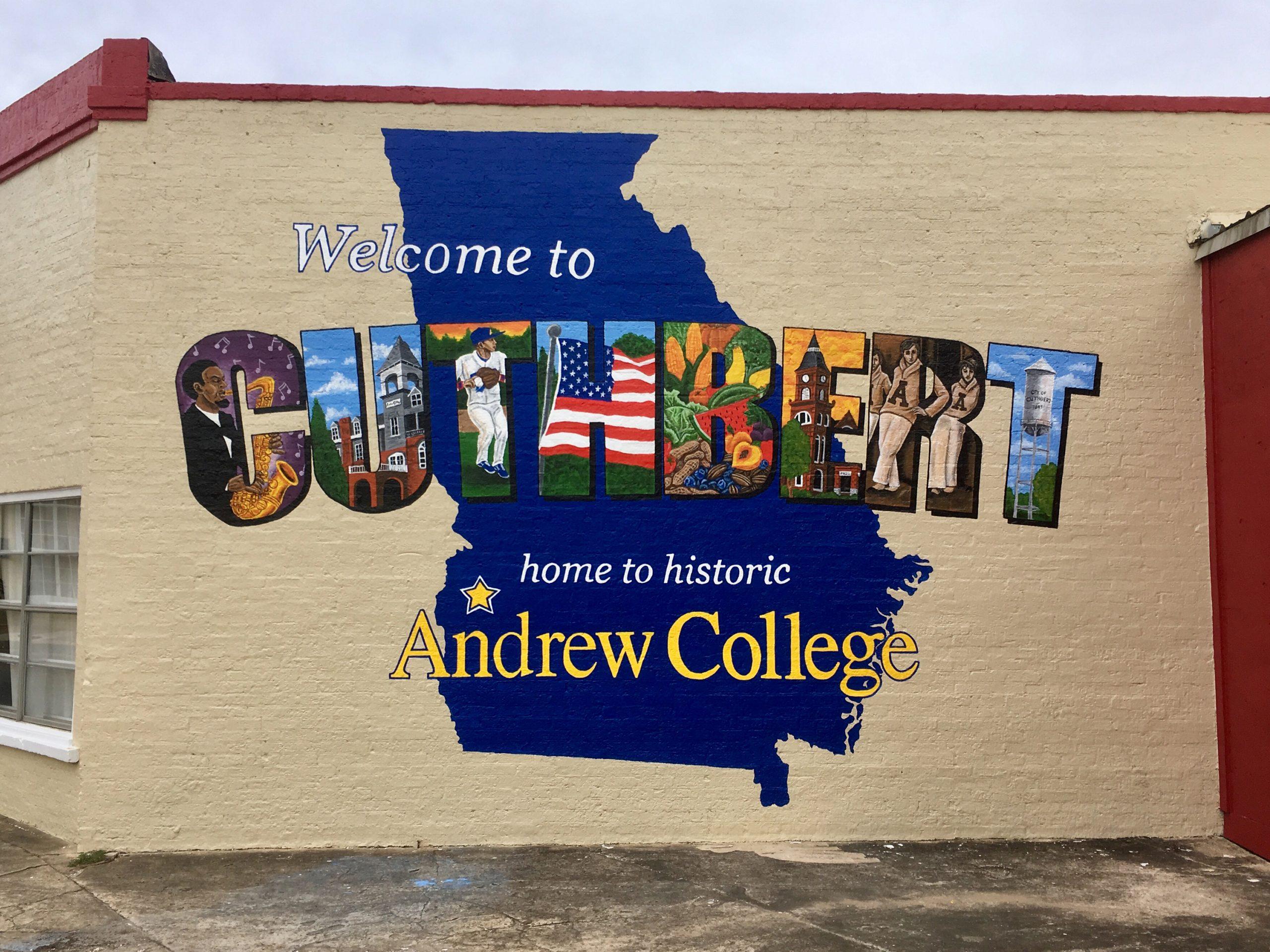 Mural in Cuthbert, Georgia.