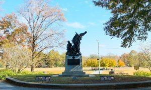 The Peace Monument in Piedmont Park, Atlanta, Georgia.