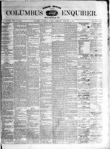Columbus Enquirer, January 4, 1874.