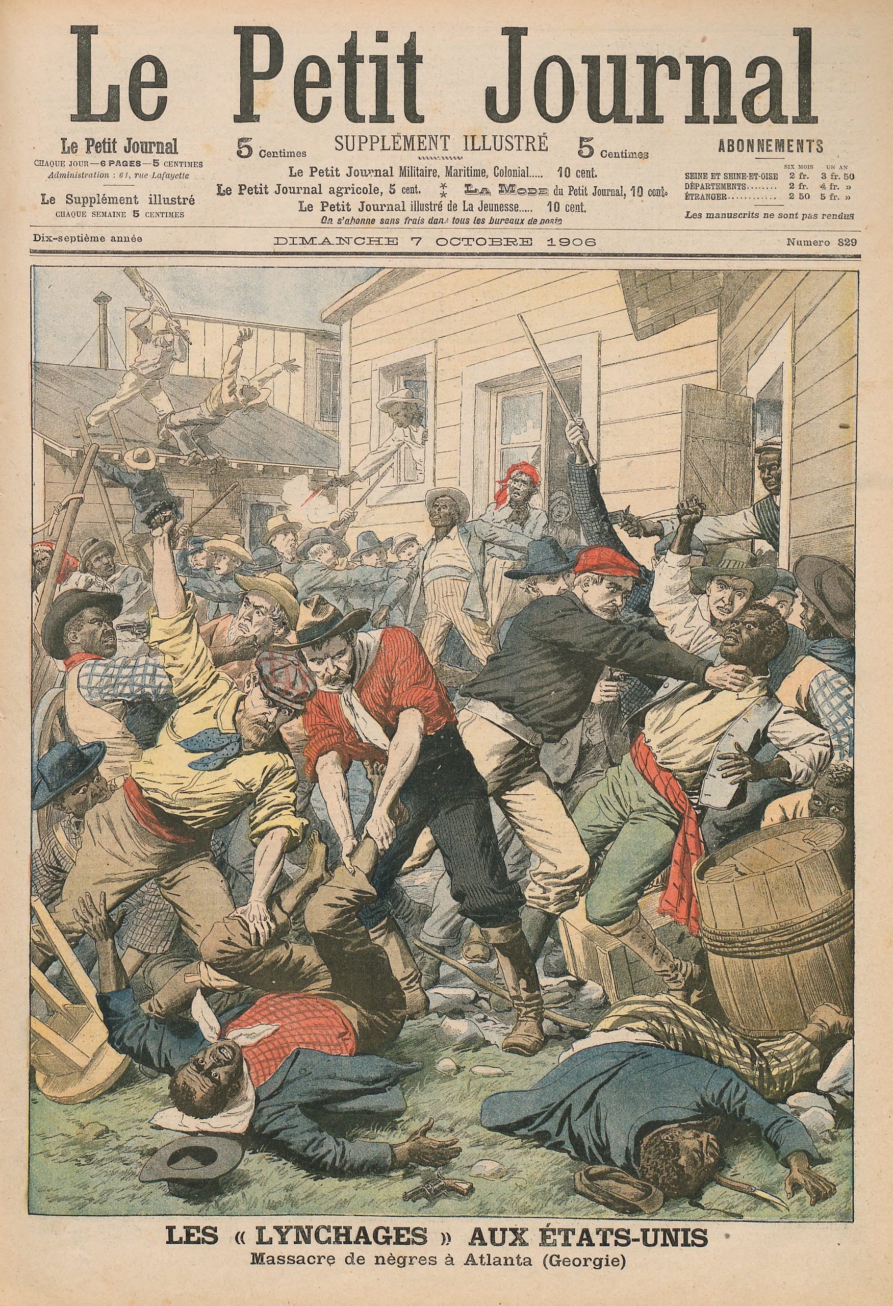 Cover of Le Petit Journal on October 7, 1906.